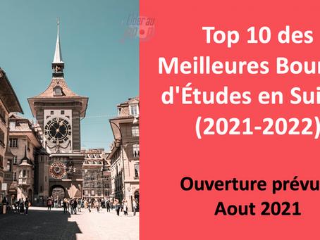 Top 10 des Meilleures Bourses d'Études en Suisse - 2021 2022