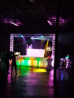 Stage Lighting - DJ on Stage