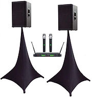 Speaker stand cover and mic.jpg