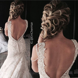 I got to create this bridal style on gorgeous _marissagiambrone today for _rochesterwedding's bridal
