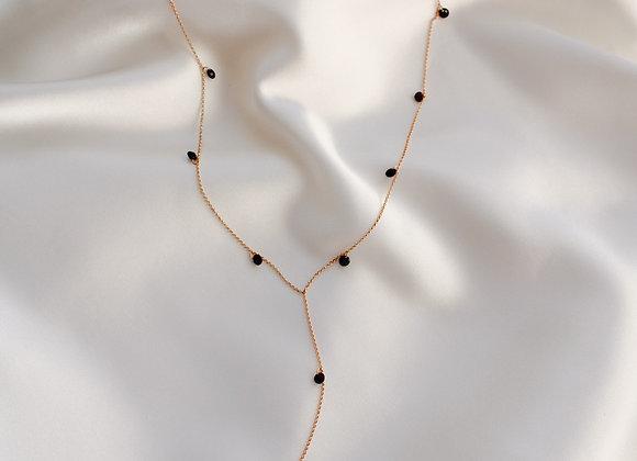 Black little stones necklace