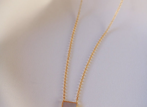 Square mother of pearl necklace