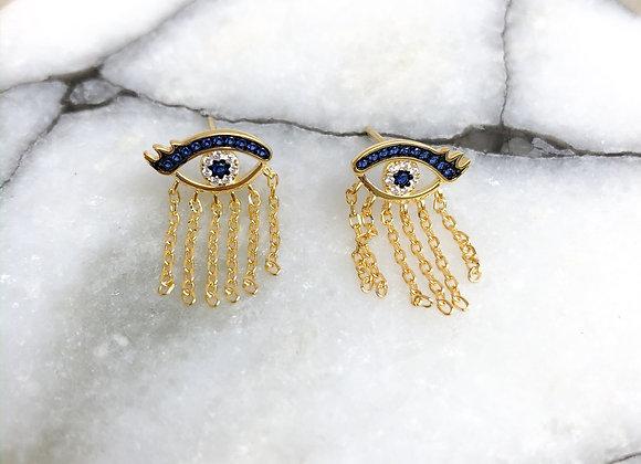 Evil eye earring