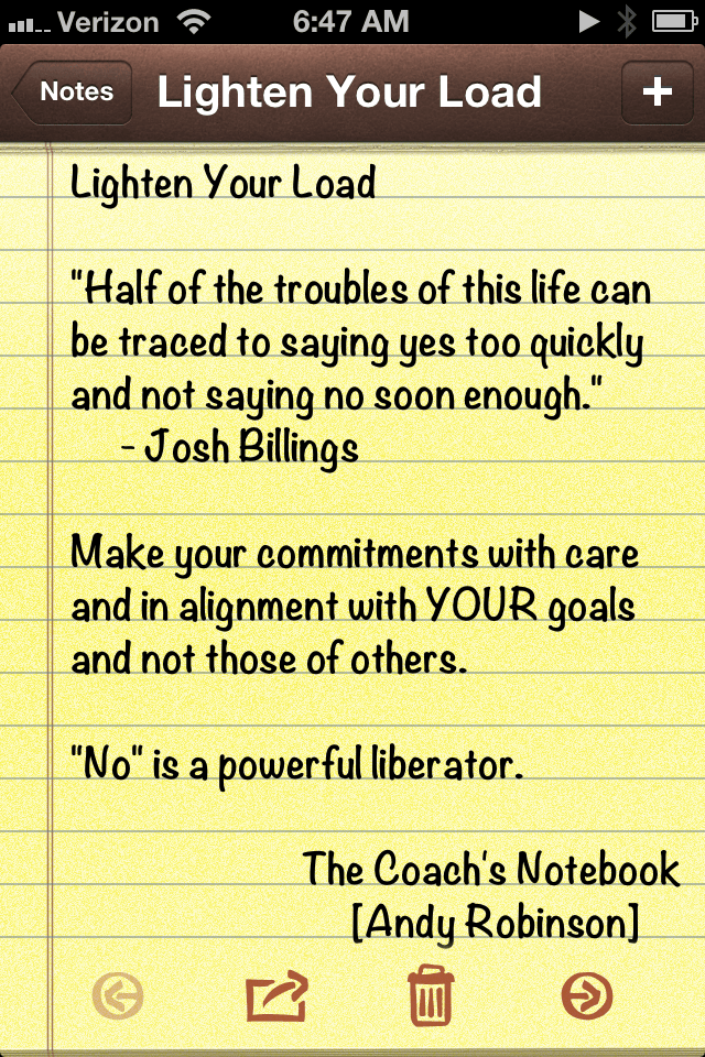Andy Robinson, The Coach's Notebook