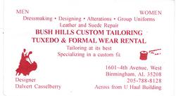 Bush Hills Custom Tailoring