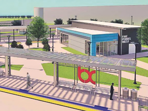 Construction underway for the Birmingham Xpress Bus Rapid Transit System