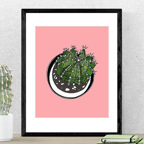 Round Cactus Print