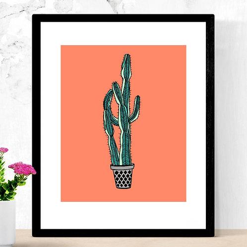 Euphorbia Cactus Print