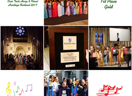 The Cass Tech Harp & Vocal Ensemble took the CT Excellence on the road to New York City for the