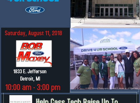 Take a Drive at Bob Maxey Ford to support Cass Tech on August 11th!