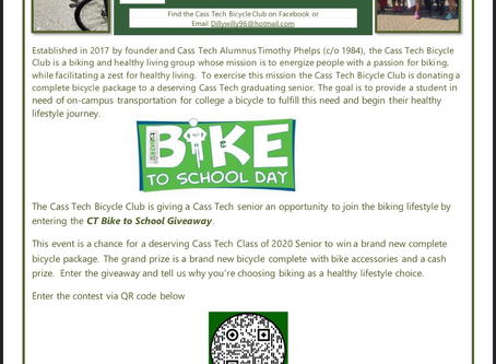 Class of 2020 Bike Giveaway