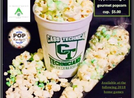 Girls Basketball Gourmet PopcornFundraiser begins January 8, 2018I