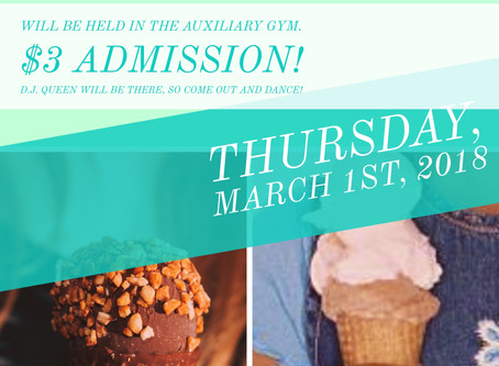 Ice Cream Social Fundraiser 3-1-18