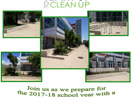 August 5, 2017 - Team up to Clean up Day at Cass Tech High School was a day of service designed to c