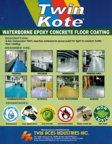 Waterborne Epoxy Concrete Floor Coating