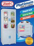Zooey Platinum Display Cabinet