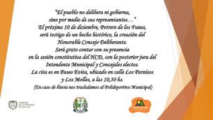 Jura del Intendente Municipal y Concejales Electos - 10 de Diciembre