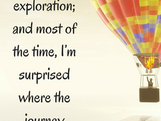 The joy of exploration