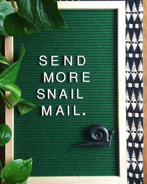 🐌✉️=❤️ #snailmail #greetingcards_edited