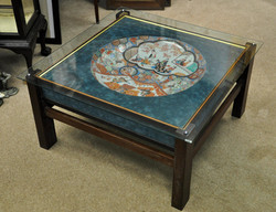 Oriental Charger set in Glass Table