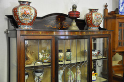 Inlaid Cabinet with Antiques