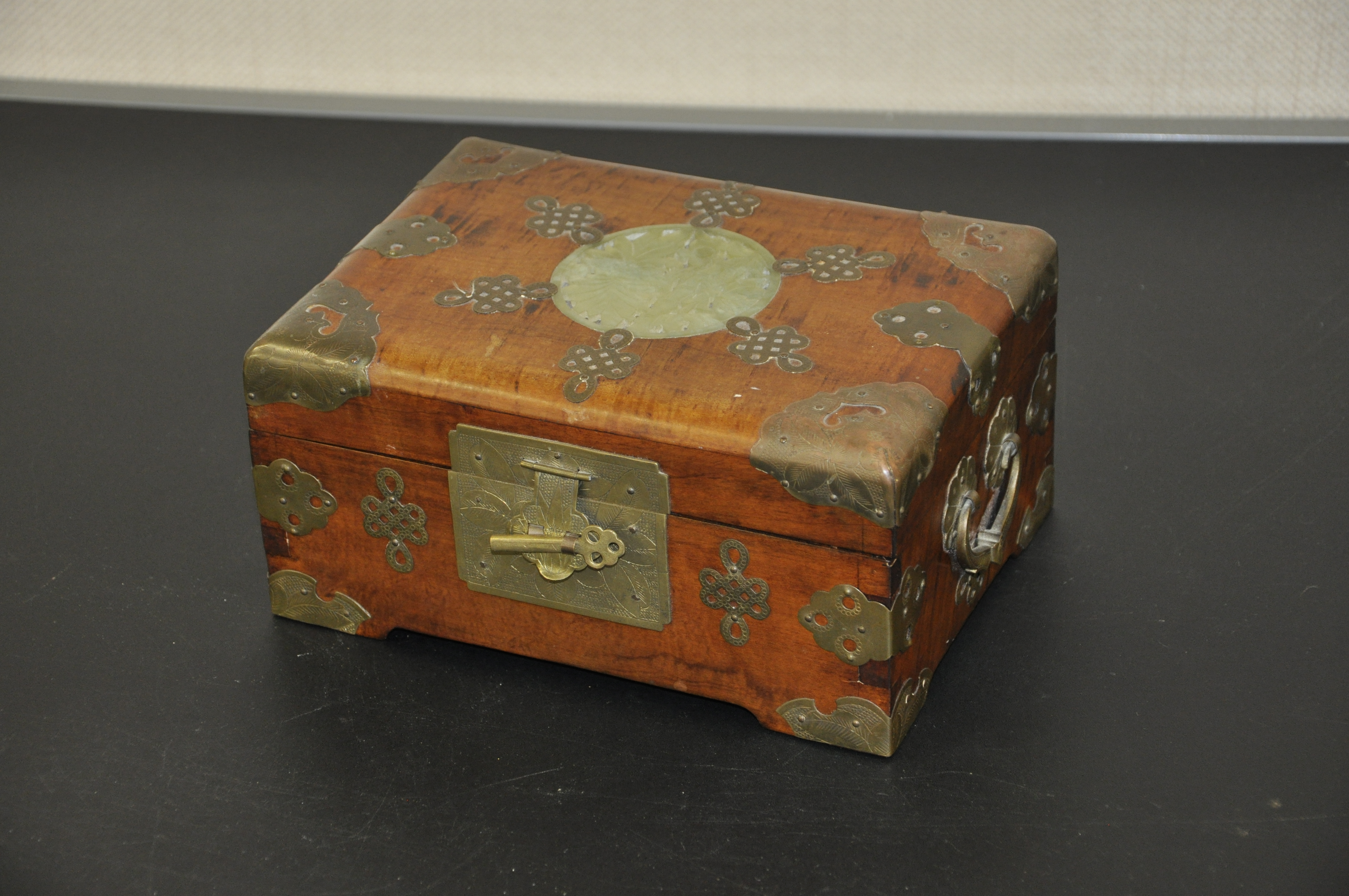 Oriental Box with Jade Inlaid