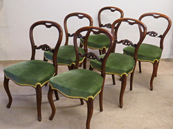 Victorian Balloon-Back Dining Chairs