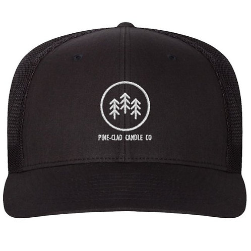 Pine-Clad Candle Black Trucker Style Hat