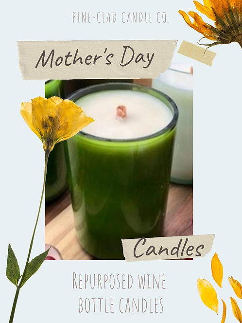 Mother's Day Wine Bottle Candle