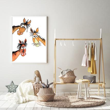 Horse Nursery Wall Art