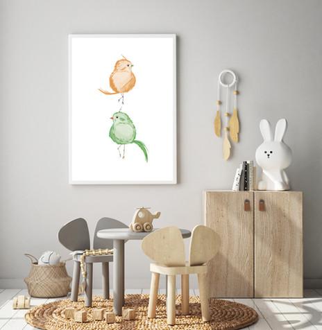ELEGANT BIRDS, 2in1, MUSTARD&PEAR GR