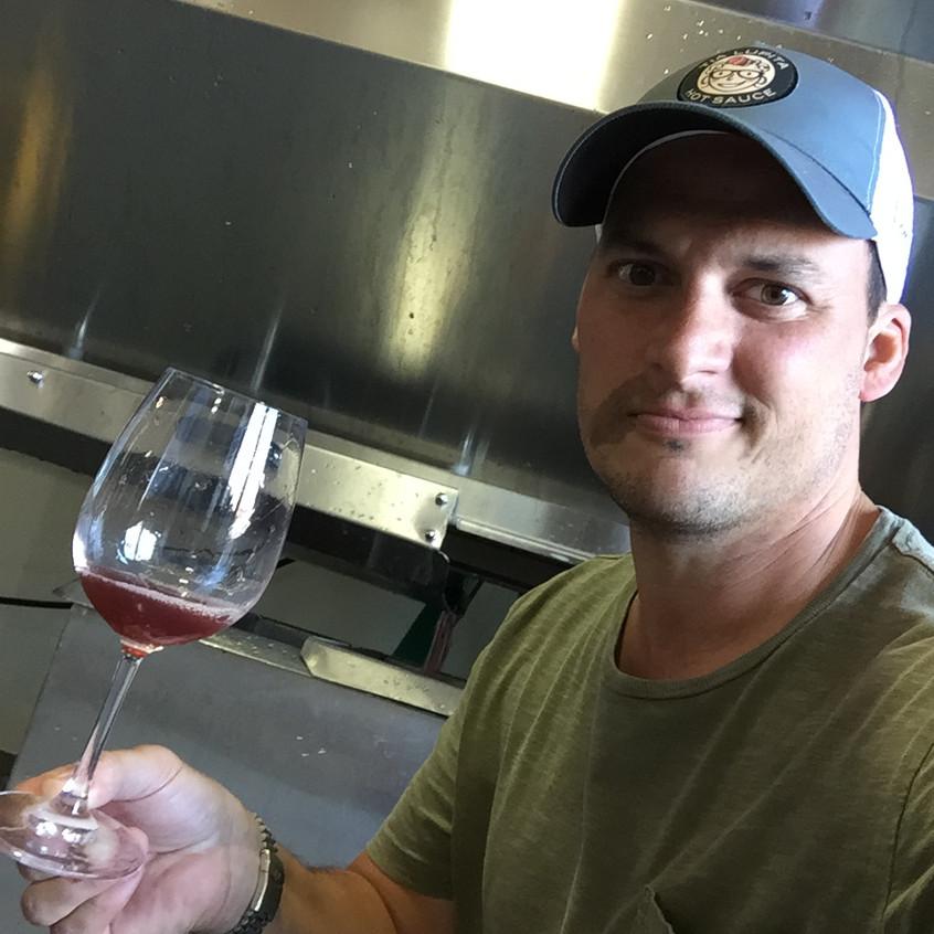 Jeremy Sampling the 'Rosé'