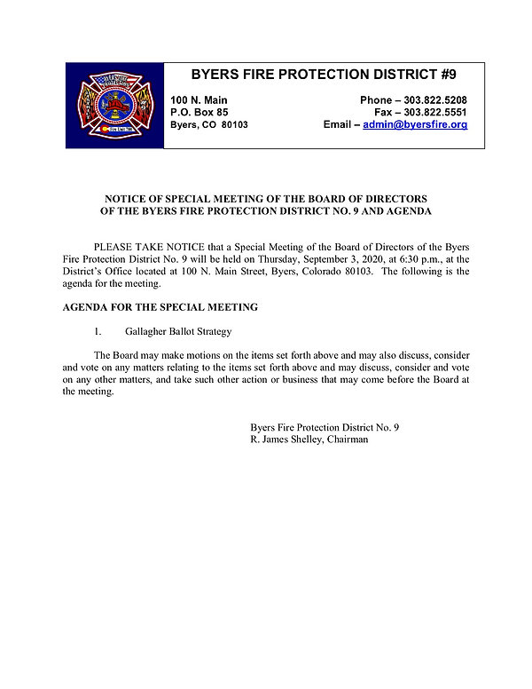 09 09-3-2020 Special BOD Meeting Notice