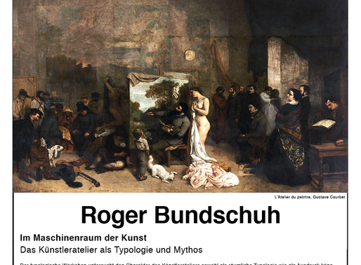 Presentation and workshop with Roger Bundschuh.