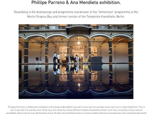 Private tour of the Phillipe Parreno and Ana Mendieta exhibition