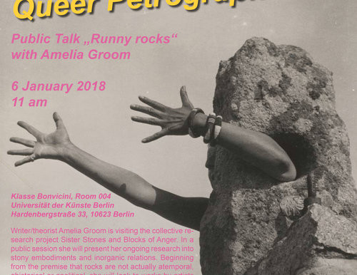 """SISTER STONES AND BLOCKS OF ANGER! Public talk """"Runny Rocks"""" with Amelia Groom"""
