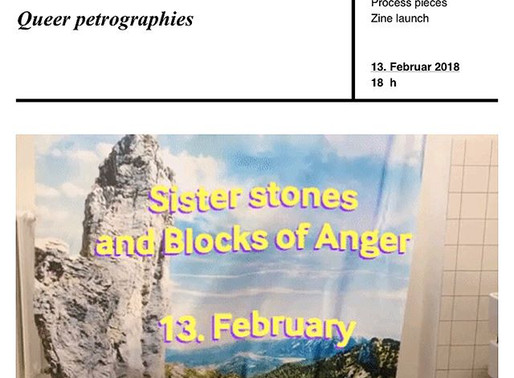 We warmly invite you to: Sister Stones and Blocks of Anger. Queer petrographies.