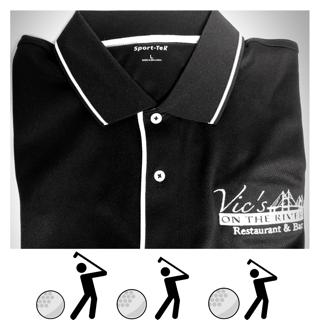 Vic's Golf Polo (BLACK)