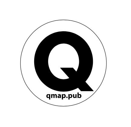 Qステッカー(透明)ブラック/スカイブルー