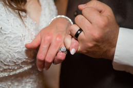Bride and Groom pinky swear