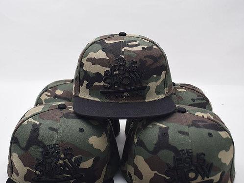 The Jesus Show Adjustable Snapback Hat - Camo/Black