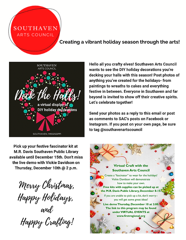 Hello all you crafty elves! Southaven Ar