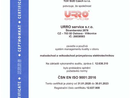 Certifikace podle nové normy ČSN EN ISO 9001:2016