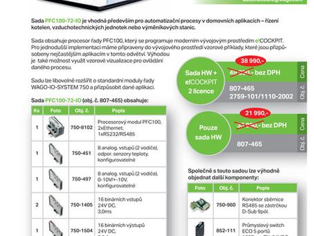 AKCE WAGO - Sestava PFC100-72-IO (+2 licence e!COCKPIT)