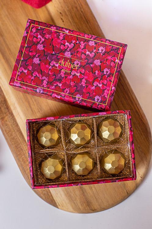 Caixa Corações - 6 Diamantes de Nutella