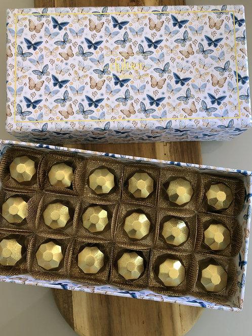 Caixa Borboleta - 18 Diamantes de Nutella