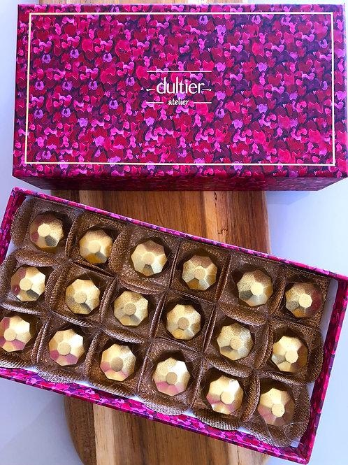 Caixa Coração - 18 Diamantes de Nutella