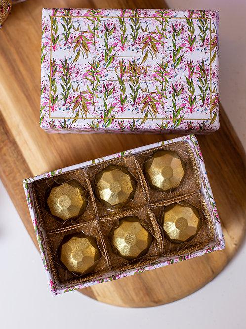 Caixa Folhas - 6 Diamantes de Nutella
