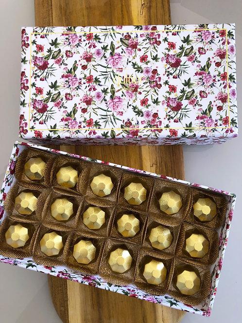 Caixa Flores - 18 Diamantes de Nutella