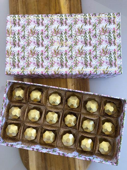 Caixa Folhas - 18 Diamantes de Nutella